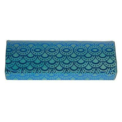 Sass and Belle Glasses case - Salma Blue Moroccan Geometrics print.