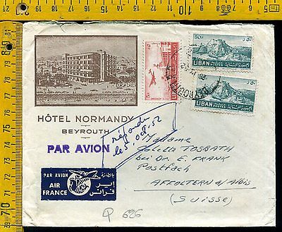 Liban Beyrouth cover busta airmail to Suisse  Q 626