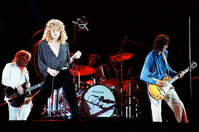 """12""""*18"""" concert photo of Led Zeppelin playing at Knebworth 1979"""