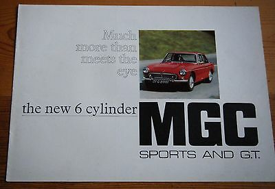 MG MGC Sports and GT 1967-70 UK Market Sales Brochure Roadster & Fastback