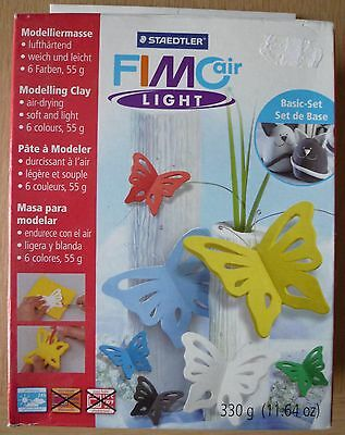 Fimo Air Light Modelling Clay, air drying, pack of 6 colours