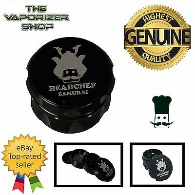 Black Head Chef Samurai Top Quality Alluminium Magnetic Grinder 55mm 4 Piece