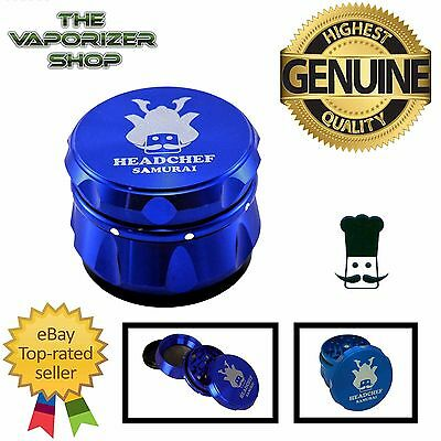 Blue Head Chef Samurai Top Quality Alluminium Magnetic Grinder 55mm 4 Piece