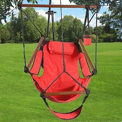 Hanging Swing Chair For Indoor Outdoor Seat Relax Foot Holder Garden Camping New