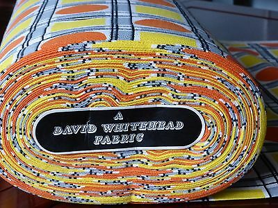 VINTAGE 1950s 1960s CURTAIN MATERIAL SOLD BY THE METRE David Whitehead