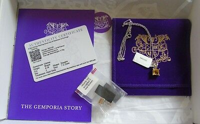 Gemporia 4.78Ct Citrine Sterling Silver Necklace And Earring Set New And Unused