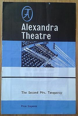 The Second Mrs. Tanqueray programme Alexandra Theatre Birmingham 1970 Tony Leary