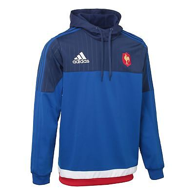 adidas French Fed Rugby Hooded Sweat S07527~Mens~Hoodies~S, M, L & XL~RRP £39.99