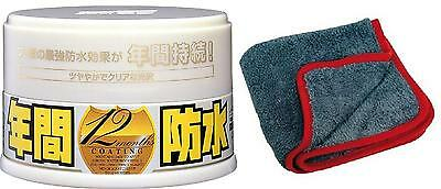 SOFT99 Fusso Coat Light Color 12 Months Wax - 200 gr + Microfibres Poli Buffing