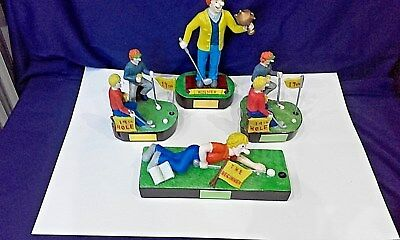 Golf Figures, humourous, set of 4, ideal for gifts/ awards/trophies/prizes.