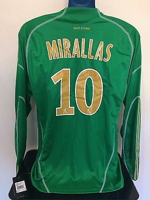 Saint Etienne MIRALLAS 09/10 Home BNWT Football Shirt (L) Player Issue
