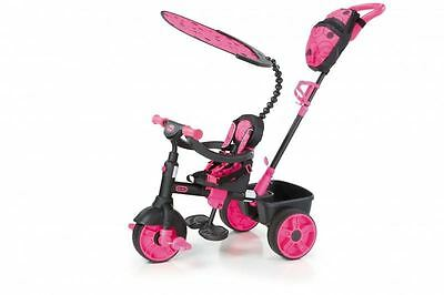 Little Tikes 4-in-1 Deluxe Edition Trike - Neon Pink - Girls Trike - FREE P&P
