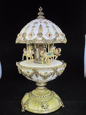 The Signature Faberge Imperial Carousel Egg Franklin Mint Collection.Damaged