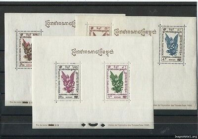 Lot : G112016/1245 - Cambodge 1953 - Yt Bf N° 4/6 Neuf Avec Charniere * (Mlh) Go