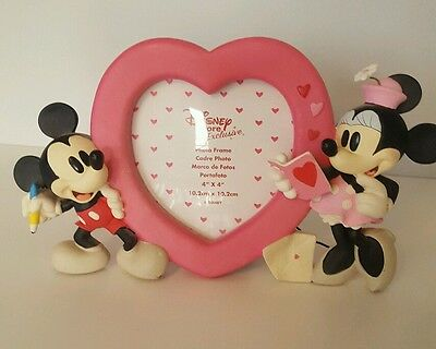 Disney Mickey Mouse and Mini Mouse Heart Picture Frame Photo Frame