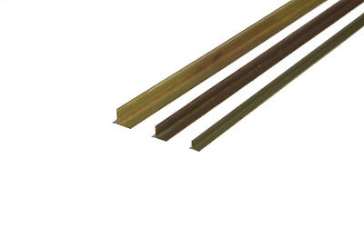 K&S Brass Angles 300mm Long 1/8 #9880, 3/16 #9881 Precision Metals