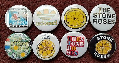 The Stone Roses Button Badges x 8. Pins. Collector. Bargain :0)
