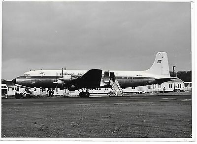 Airline Photograph-Braathens SAFE Norway DC6 aircraft @ Newcastle Airport