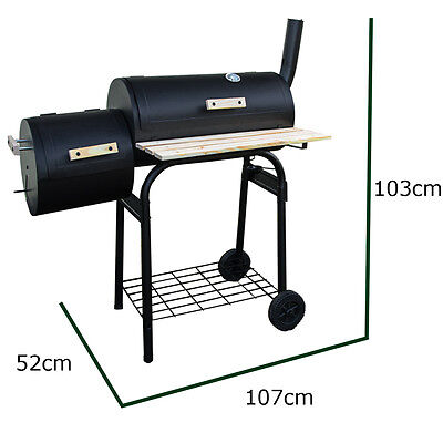 Twin Barrell Outdoor BBQs - Smoker Type - Not Perfect REF 1