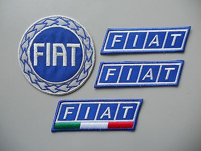 Fiat Kit 4 Toppe Patch Ricamate Termoadesive