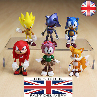 Sonic the Hedgehog figures 6 pcs set , cake topper , play set , gift for kids