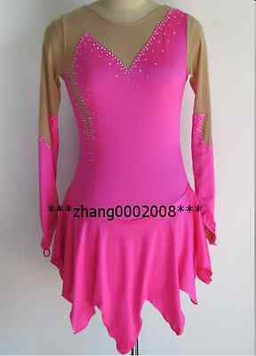 Ice skating dress. Pink Competition Figure Skating dress. Baton Twirling custom.