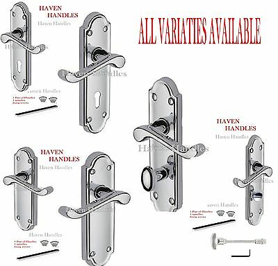 Polished CHROME Door Handles MODERN HIGH QUALITY VICTORIAN Design  RRP £16:99