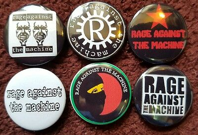 Rage Against The Machine Button Badges x 6. Pins. Collector. Bargain :0)