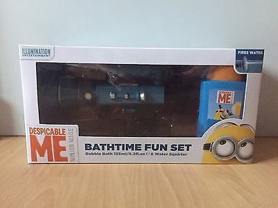 New Despicable Me Minions bathtime fun gift set bubble bath & water squirter gun