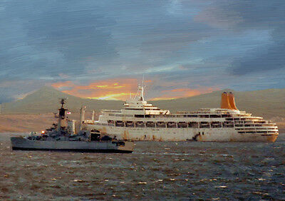 Hms Andromeda & Ss Canberra -  Limited Edition Art (25)