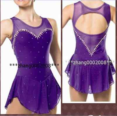 Ice skating dress.Violet Competition Figure Skating dress. Baton Twirling custom