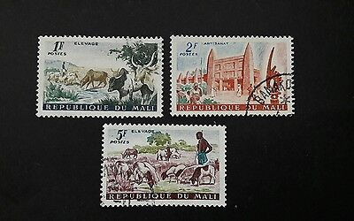 Mali stamps. 1961 Livestock Farming, Agriculture and Art. Used