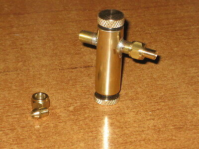 Compact Displacement Lubricator for live steam toy or model, ideal for boats