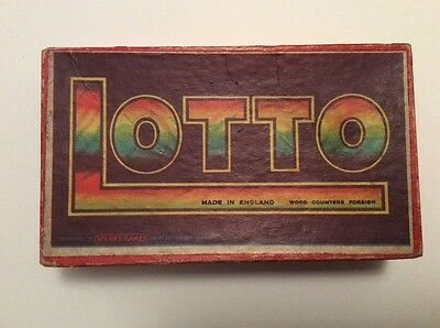 Vintage SPEARS LOTTO GAME