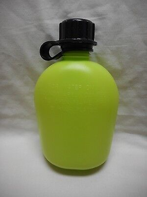 New, 1 Quart Plastic Canteen, Zombie Neon Green With Black Lid