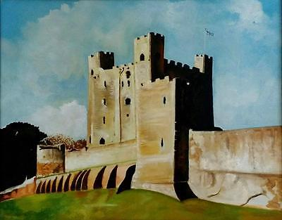 Rochester Castle Kent England Limited Edition A3 Print Of Original Oil Painting