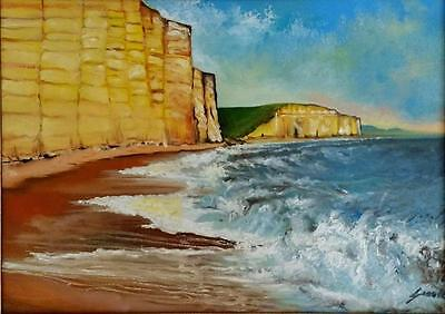 Cornwall Coast Limited Edition A3 Print Of Original Oil Painting Waves Rock Sea