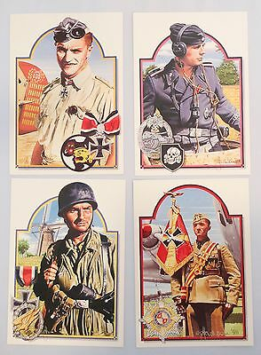 Postcards: Set of 4 Insignia German Military Personnel