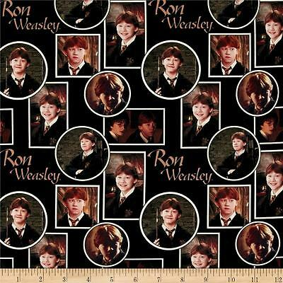 RETIRED HARRY POTTER FABRIC BY THE HALF YARD RON WEASLEY~HERMIONE GRANGER!