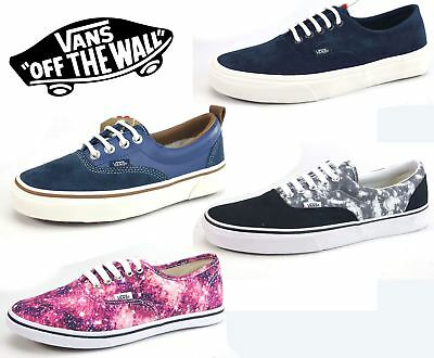80565b8c87e780 VANS Authentic Canvas Mens Ladies Navy Cosmic Lace Up Canvas Shoes Pumps