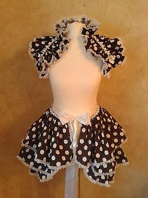 Polka Dot lolita Baby Doll Bustle and shrug set Burlesque Steampunk Harajuku