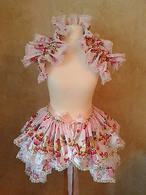 Ice cream lolita Baby Doll Bustle and shrug set Burlesque Steampunk Harajuku