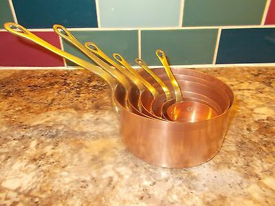 Lovely Set 6 French Vintage Patisserie Copper Pans Ref T9/117