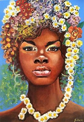 African Spring Limited Edition A3  Print Of Original Oil Painting Realism