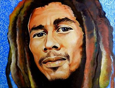 Bob Marley Limited Edition A3  Print Of Original Oil Painting Realism Pop Art
