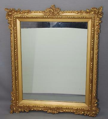Beautifully Detailed Acorn Oak Leaf Gold Gilt Rocco Frame Mirror