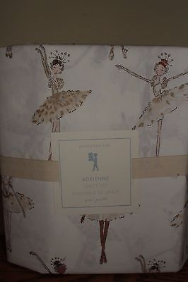 NWT Pottery Barn Kids Adrienne Ballerina queen sheet set girls dancer