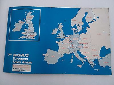 BOAC poster showing European Sales Areas
