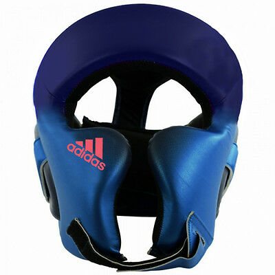 Adidas Speed Boxing Headgear - Metallic Blue/Collegiate Navy