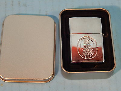 USS Sentry MGM 3 Sentinel of the Sea Zippo Lighter Military Case SILVER CLEAN